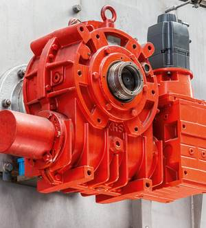 During the conversion at Aqua Römer new servomotors were installed in the existing gears.